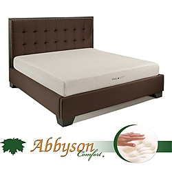 Abbyson Comfort 'Sleep-Green' Cal-King-size 8-inch Memory Foam Mattress