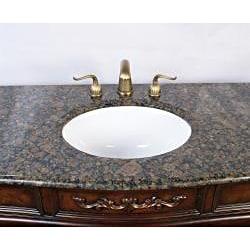 Marble Top 60-inch Single Sink Bathroom Vanity