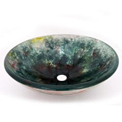 Crackle Design Glass Vessel Sink