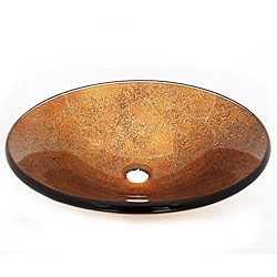 Warm Gold Glass Vessel Sink