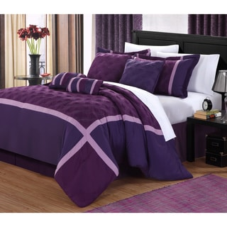 Plum Oversized 8-piece Comforter Set