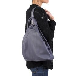 Journee Collection Women's Faux Leather Multi Pocket Backpack