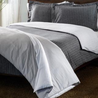 Luxury German Flannel Striped Reversible 3-piece Duvet Cover Set