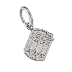 La Preciosa Sterling Silver Small Drum Charm
