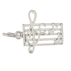La Preciosa Sterling Silver Music Sheet Charm