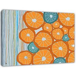 Ankan 'Oranges' Gallery-Wrapped Medium Canvas Art