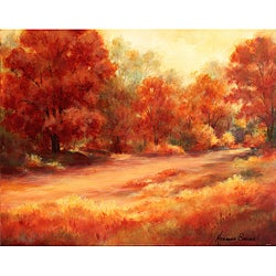 Marianne Broome 'Feeling of Fall III' Canvas Art