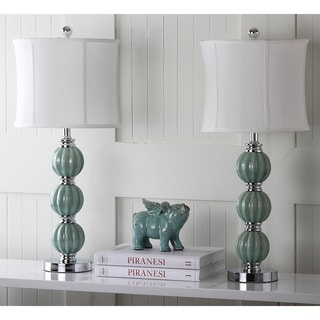 Safavieh Lighting 25-inches Jade Inspired Globes Table Lamps (Set of 2)
