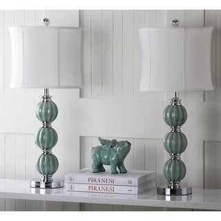 "Safavieh Lighting 25-inch Jade Inspired Globes Table Lamp (Set of 2) - 12""x12""x28"""