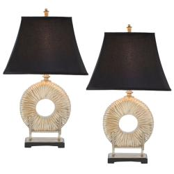 Indoor 1-light Midnight Circle Table Lamps (Set of 2)