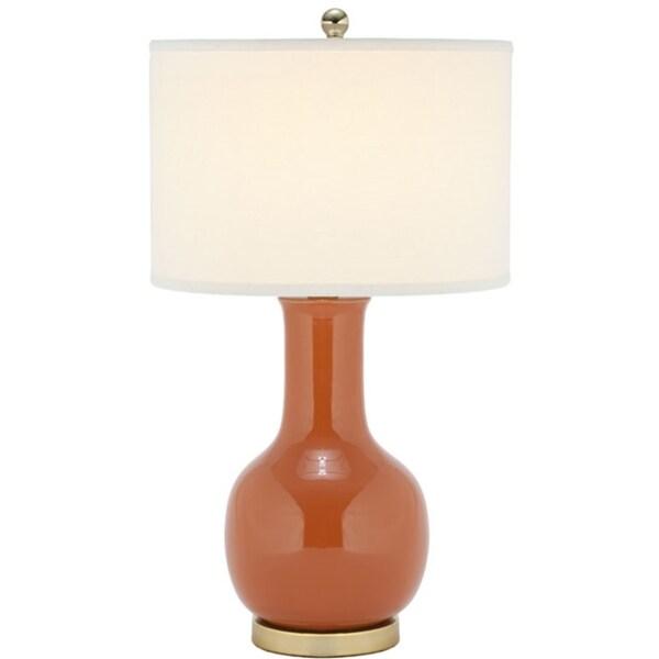 Safavieh Lighting 27.5-inch Louvre Orange Table Lamp