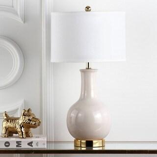 Safavieh Lighting 27.5-inch Louvre Grey Table Lamp