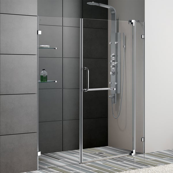 Vigo 66-inch Frameless Clear Shower Door