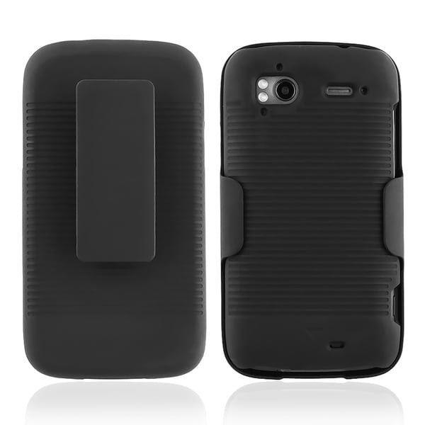 Black Holster with Stand for HTC Sensation 4G