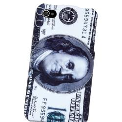 Hundred Dollar Snap-on Rubber Coated Case for Apple iPhone 4/ 4S