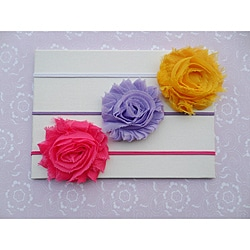 'Itty Bitty Shabby' Headband Set (Pack of 3)