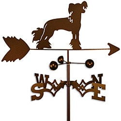 Handmade Chinese Crested Dog Copper Weathervane