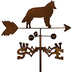 Handmade Belgian Sheepdog Copper Weathervane