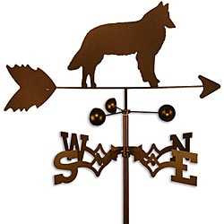 Handmade Belgian Sheepdog Copper Weathervane