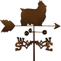 Handmade Yorkshire Terrier Dog Copper Weathervane