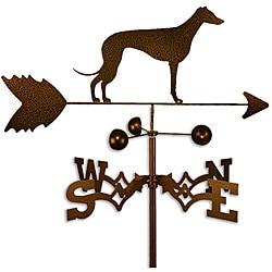 Handmade Whippet Dog Copper Weathervane