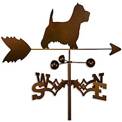Handmade Westie Terrier Dog Copper Weathervane