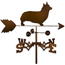 Handmade Welsh Corgi Pembroke Dog Copper Weathervane