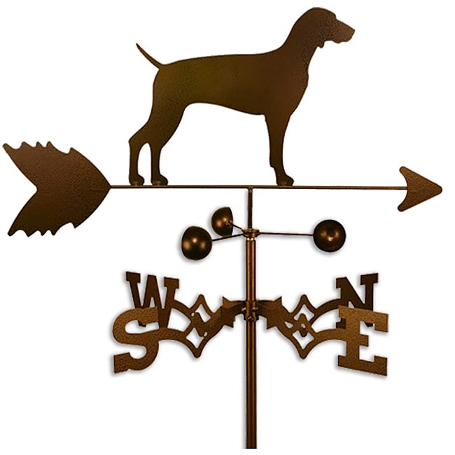 Handmade Weimaraner Dog Copper Weathervane
