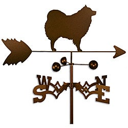 Handmade Spitz Samoyed American Eskimo Dog Copper Weathervane