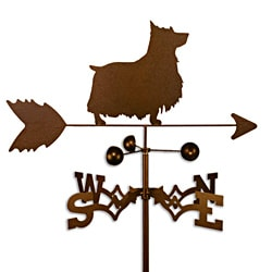 Handmade Silky Terrier Dog Copper Weathervane