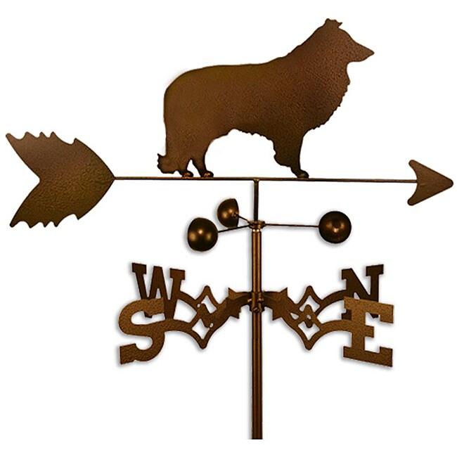 Handmade Sheltie Dog Copper Weathervane