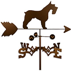 Handmade Schnauzer Dog Copper Weathervane