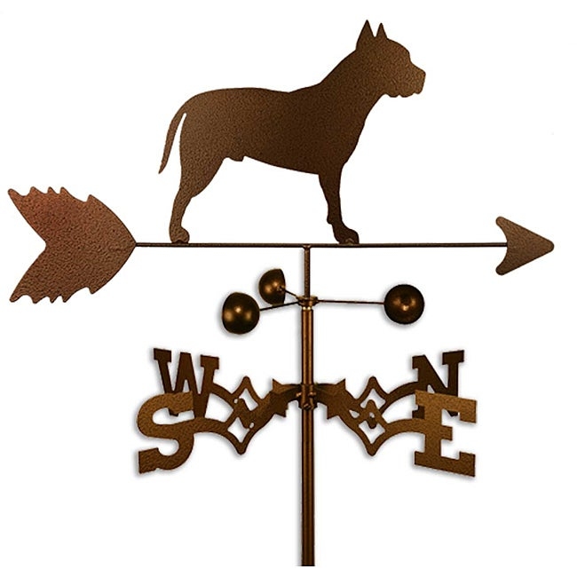 Stafford Pitbull Dog Weathervane