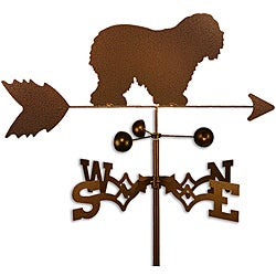 Handmade Old English Sheepdog Dog Copper Weathervane