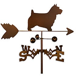 Handmade Norwich Australian Terrier Dog Copper Weathervane