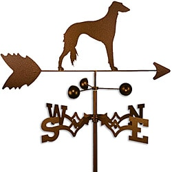 Handmade Saluki Dog Copper Weathervane