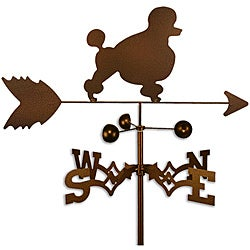 Handmade Poodle Dog Copper Weathervane
