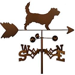 Handmade Petit Basset Griffon Vendeen PBGV Dog Copper Weathervane