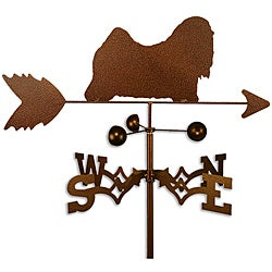 Handmade Lhasa Apso Dog Copper Weathervane