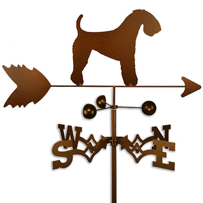 Handmade Kerry Blue Terrier Dog Copper Weathervane