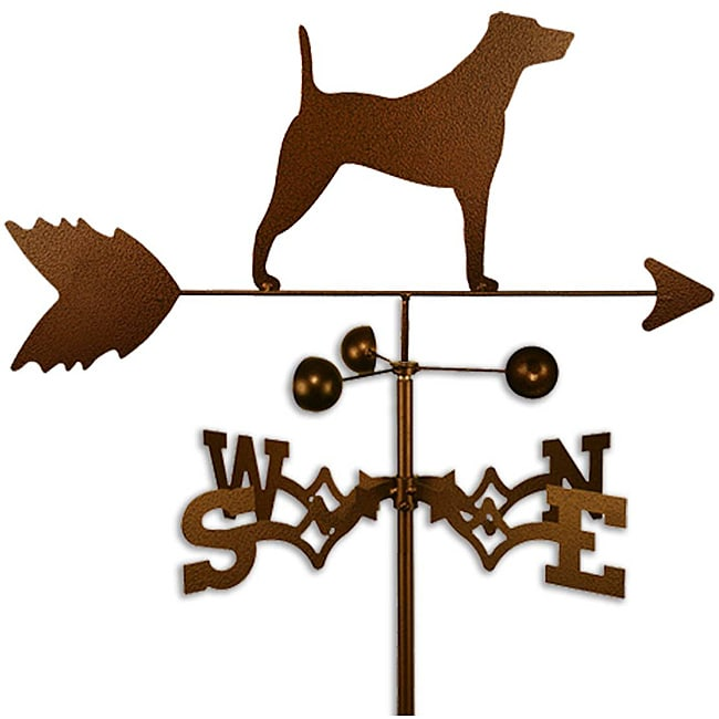 Handmade Jack Russell Dog Copper Weathervane