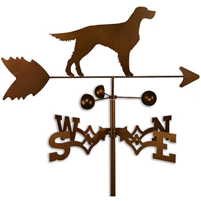 Handmade Gordon English Setter Dog Weathervane (CoppervienMaterials SteelStyle Roof, garden, flat, sideWeatherproof Garden height 60 inchesFlat, roof, side height 30 inches Dimensions 30 inches high x 21 inches wide x 21 inches deep )
