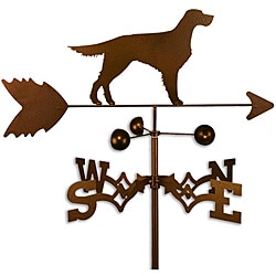 Handmade Gordon English Setter Dog Weathervane