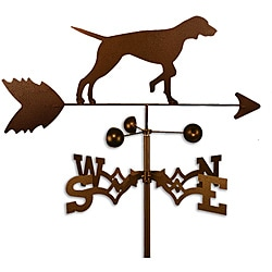Handmade English Pointer Dog Weathervane