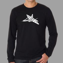 Los Angeles Pop Art Men's 'Need for Speed' Long Sleeve T-Shirt