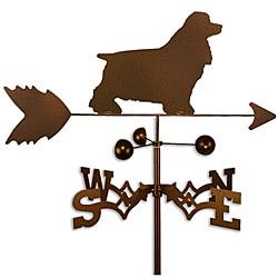 Handmade Cocker Spaniel Dog Copper Weathervane