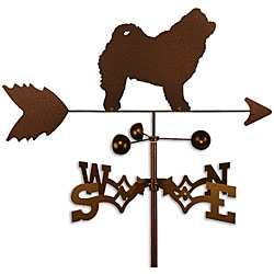 Handmade Chow Chow Dog Copper Weathervane