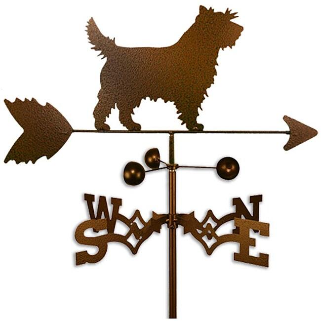 Handmade Cairn Terrier Dog Copper Weathervane