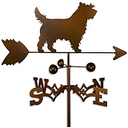 Handmade Cairn Terrier Dog Copper Weathervane