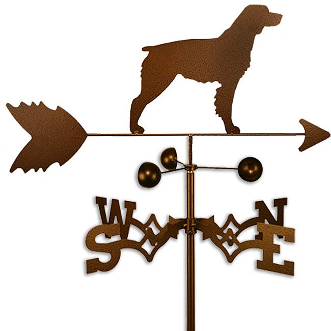 Handmade Brittany Spaniel Dog Copper Weathervane